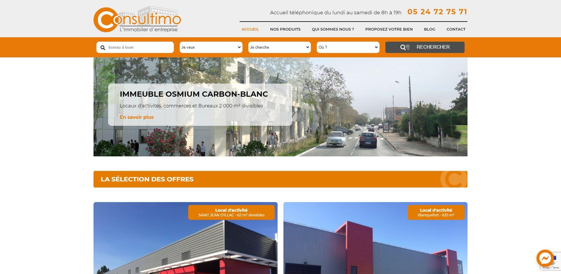 Refonte du site web de Consultimo